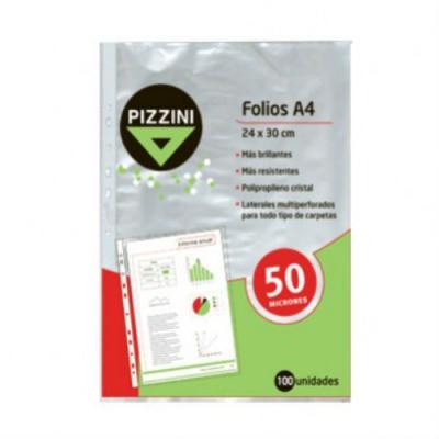 Folio Pizzini A4 X 100u. 50mic.
