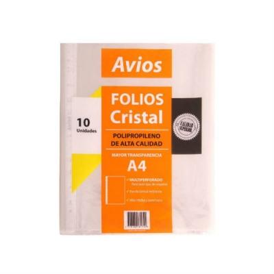 Folio Avios A4 X 10u