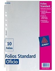 Folio Avery Oficio X 10u