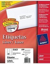 Etiq Avery 5163 101.6x50.8 X100u