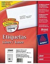 Etiq Avery 5960 66.7x25.4 X250u