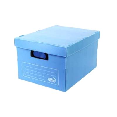 Caja Archivo Plastica Con Tapa 45x35x25 Azul