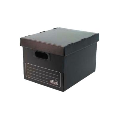 Caja Archivo Plastica Con Tapa 45x35x25 Negro