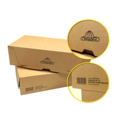 Caja Archivo Carton Oficio 9 Congreso Tapa Volcada