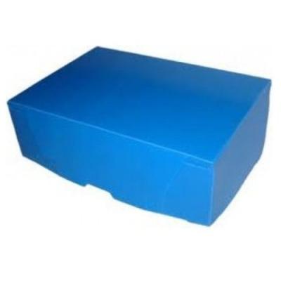 Caja Archivo Plastica A4 12 Celeste Tapa Volcada