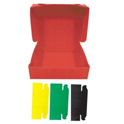 Caja Archivo Plastica Oficio 12 Amarillo Tapa Volcada