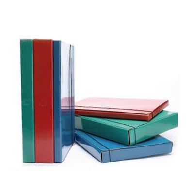 Caja Carton Plast C/elast 6cm Azul