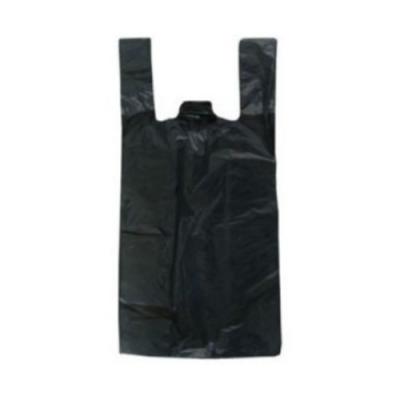 Bolsa Camiseta Negra Baja Densidad (gruesa) 50x60 X100