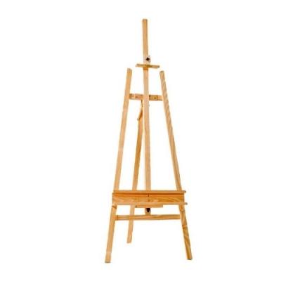 Atril De Pintor Pino Sin Lustrar 165 X 70cm. (teÑido Caoba)