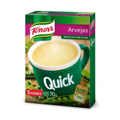 Sopa Knorr Quick Arvejas X 5