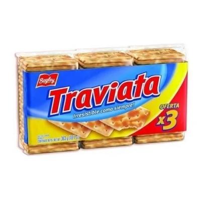 Galletita Traviata 303g Tripack