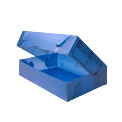 Caja Archivo Plastica Oficio 12 Celeste Torre